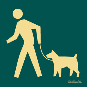 'Dog walking' symbol sign