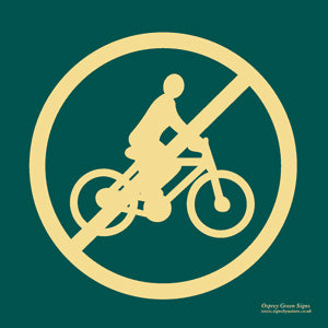 'No cycling' symbol sign