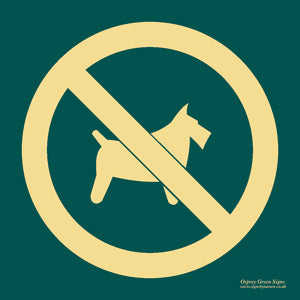 'No dogs' symbol sign