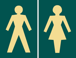 'Toilets' symbol signs