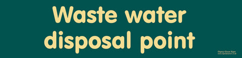 'Waste water disposal point' sign
