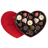 Martin's Chocolatier Luxury Chocolates - in a Heart Shaped Box Chocolate Gift (Red)