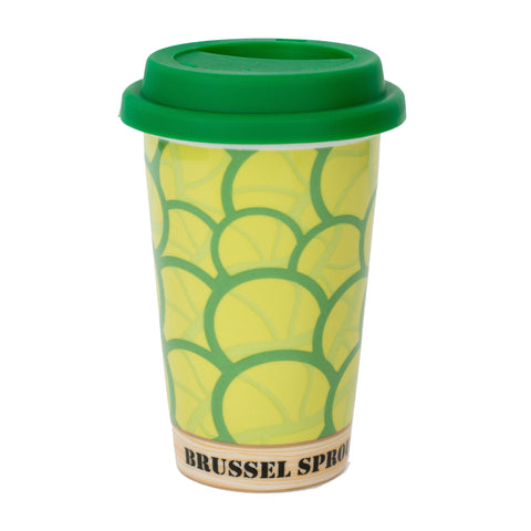 Brussel Sprouts Double Walled Ceramic Travel Mug