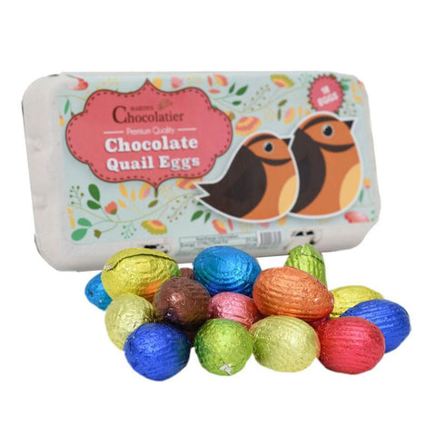 Filled Chocolate Quail Eggs