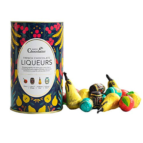 Martins Chocolatier French Chocolate Liqueurs | Dark Chocolate with Premium Spirit Liquid Centres | Chocolate Gift | Christmas Chocolates | Chocolate Selection