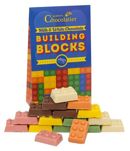 Milk and White Chocolate Building Blocks