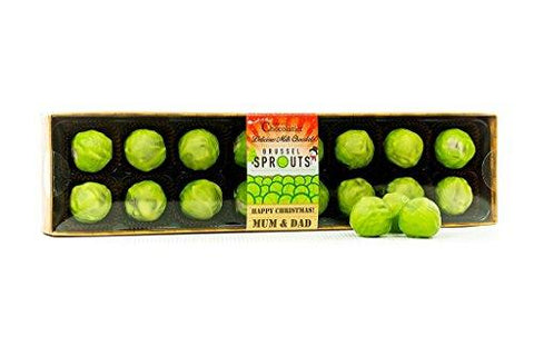 Chocolate Brussels Sprouts - Mum and Dad Caption