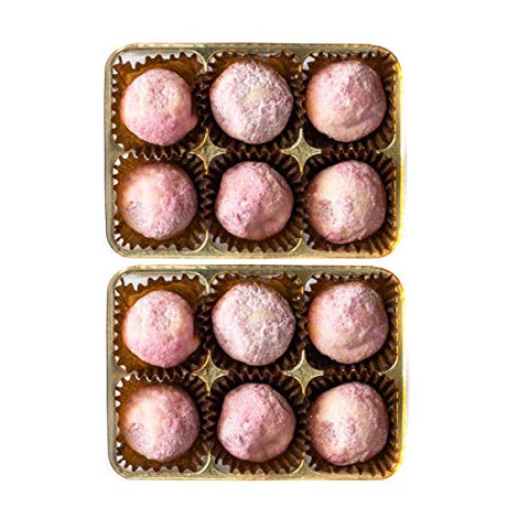 Martins Chocolatier Pink Gin Chocolate Gift 6 Pack - 2 Boxes | Flavoured Chocolates