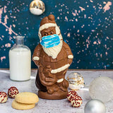 Martin's Chocolatier Chocolate Santa with Face Mask | Festive Chocolate Gift | White Chocolate Truffles | Milk Chocolate, White Chocolate and Dark Chocolate