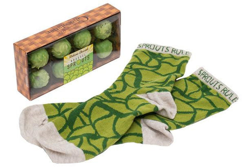 Chocolate Brussels Sprouts and Socks Gift Pack