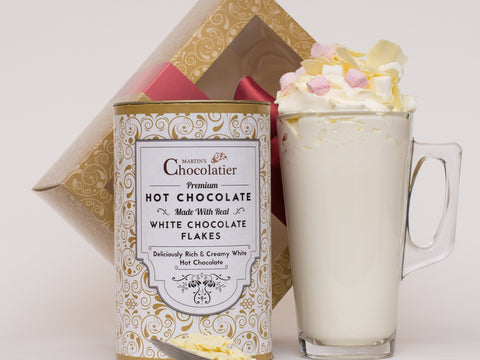 Martins Chocolatier Luxury White Hot Chocolate gift set