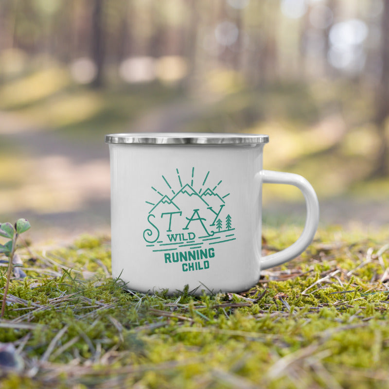 Stay Wild Running Child Enamel Mug