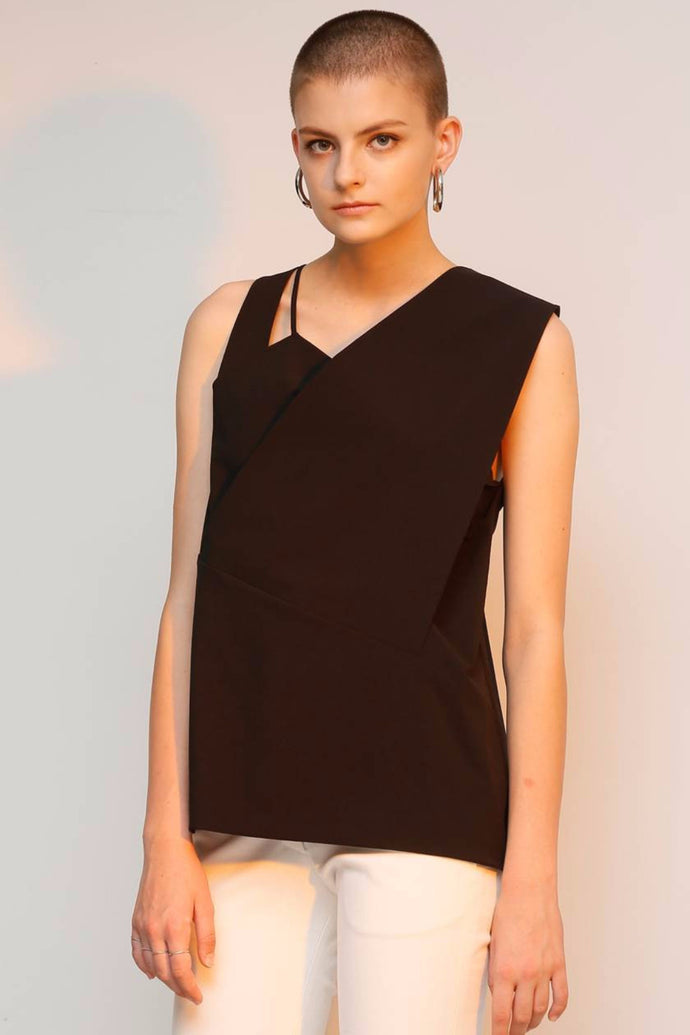 Black Asymmetrical Top ***Collection Line***