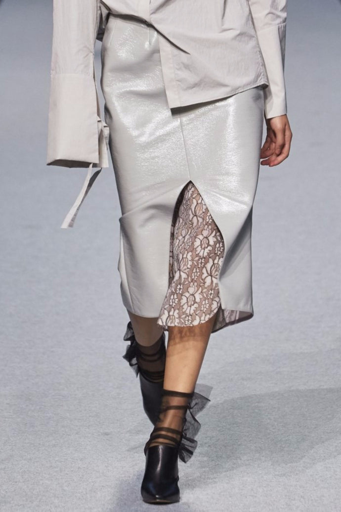 Grey Front Slit Skirt ***Collection Line***