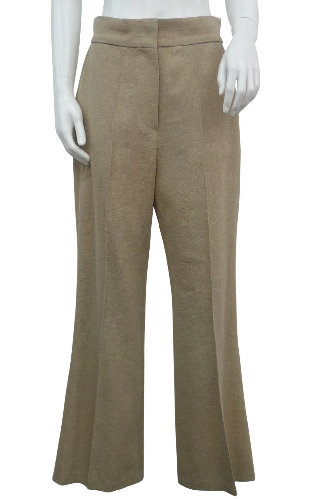 Straight Linen Trousers