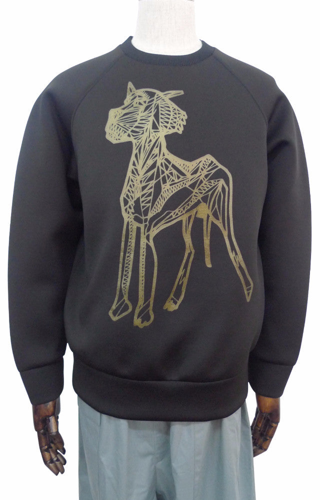 Long Sleeve Animal Motif Sweatshirt