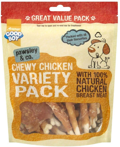 Good Boy Pawsley & Co Chewy Chicken Variety Pack