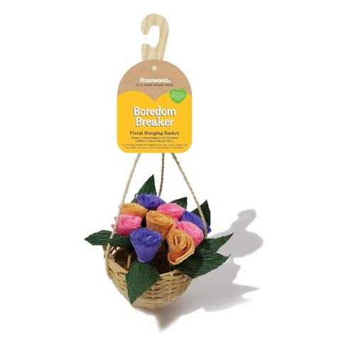 Boredom Breaker Small Animal Floral Hanging Basket