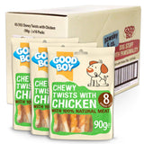 Pawsley & Co Chewy Twists With Chicken Healthy Dog Treats - 90g