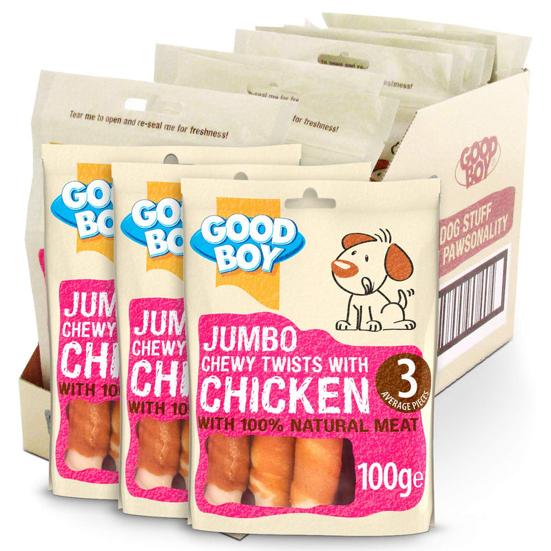 Good Boy Pawsley Jumbo Chewy Twists With Chicken 100g