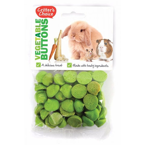Critters Choice Vegetable Buttons 40g