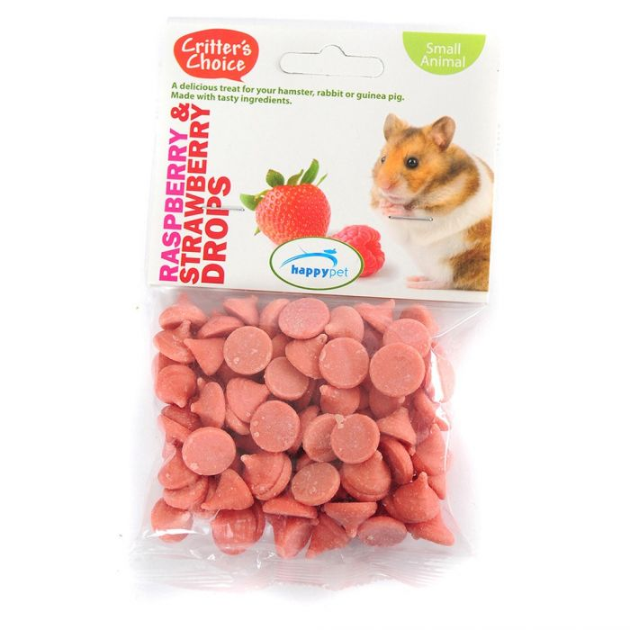 Critters Choice Raspberry & Strawberry Drops 75g