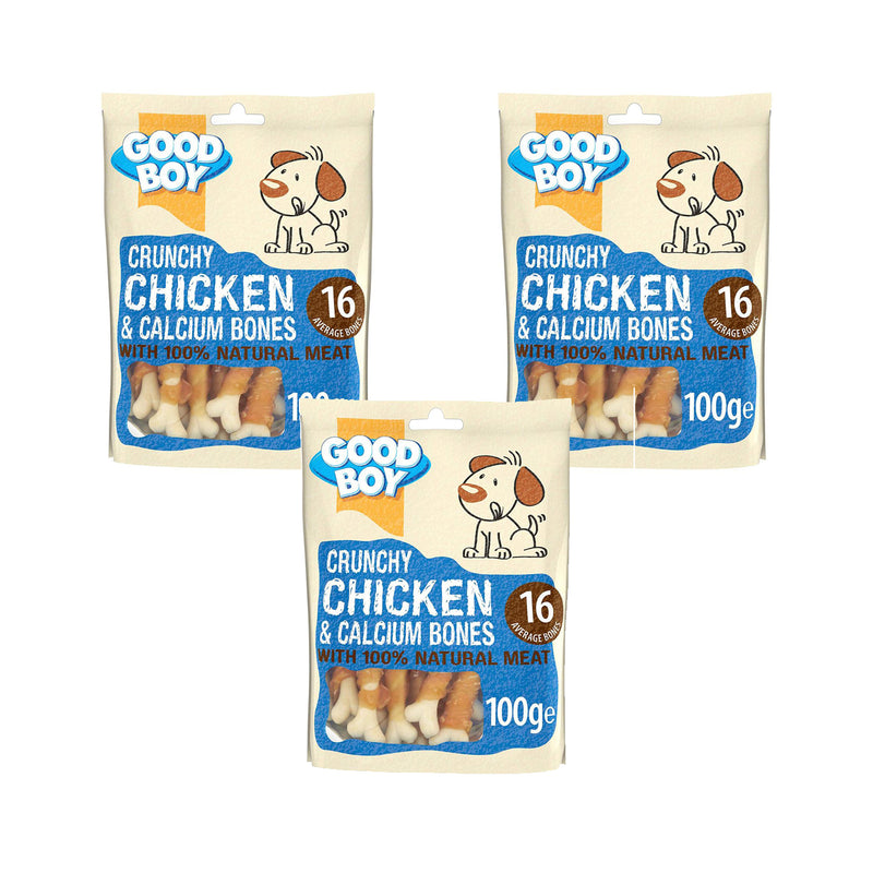 Good Boy Pawsley Crunchy Chicken & Calcium Bones 100g