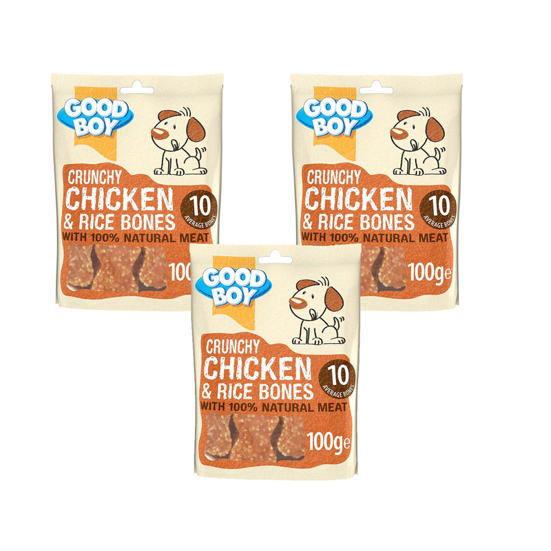Good Boy Pawsley Crunchy Chicken & Rice Bones 100g