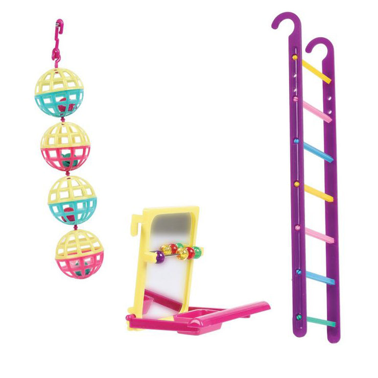 Happy Pet Fun At The Fair Bird Toy Multipack