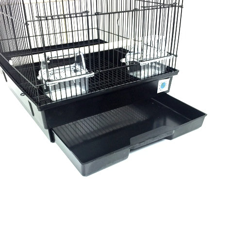 Patti Large Bird Cage For Budgie & Canary - Black