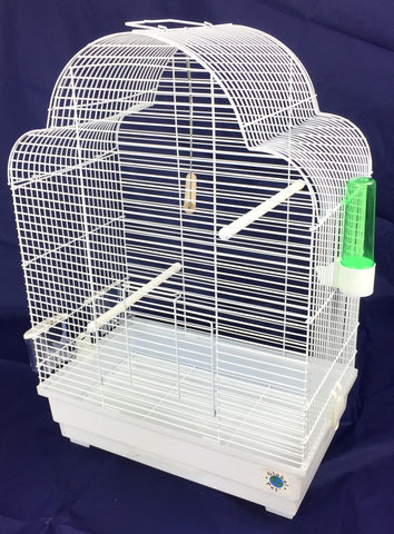 Elsa Large Budgie & Canary Cage - White