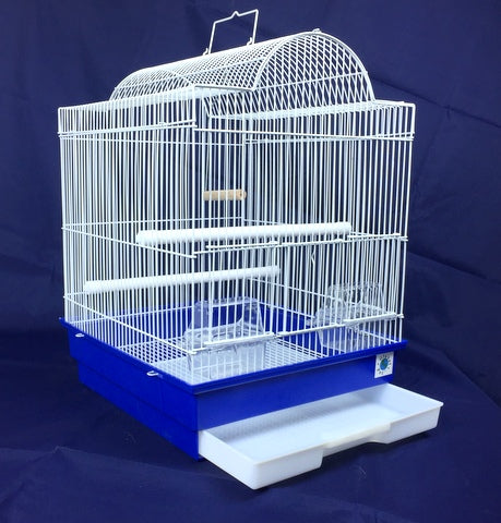 Patti Large Bird Cage For Budgie & Canary - White