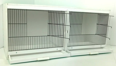 UPVC Plastic Double Budgie Breeding Cages With Divider