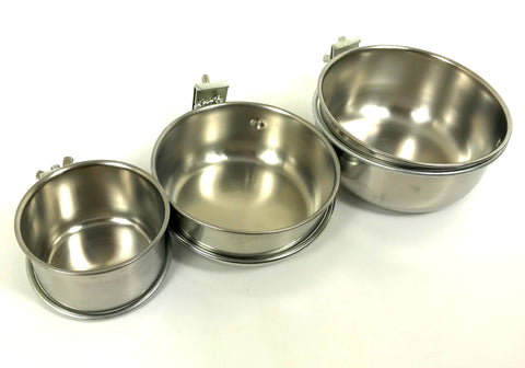 Stainless Steel Feeding Bowls with Holder - 3 Sizes