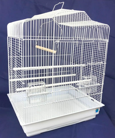 Sarah Large Bird Cage For Budgie & Canary - White