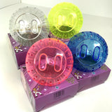 Hamster Exercise Ball With Glitter - Blue, Pink, Yellow or Clear