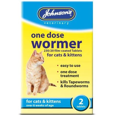 Johnson's One Dose Wormer for Cats and Kittens