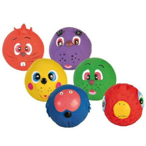 Armitage Latex Squeaky Face Ball Dog Toys - 6 Pack-Package Pets