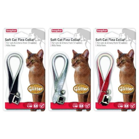Beaphar Cat Flea Collar With Bell - Glitter-Package Pets