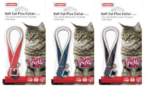 Beaphar Cat Flea Collar With Bell - Sparkle-Package Pets