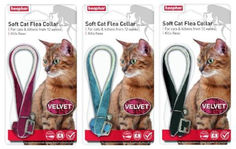 Beaphar Cat Flea Collar With Bell - Velvet-Package Pets