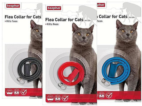Beaphar Cat Flea Collar With Bell - Waterproof Plastic-Package Pets
