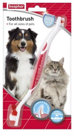 Beaphar Double Ended Toothbrush-Package Pets