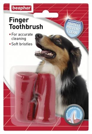 Beaphar Finger Toothbrush Twin Pack-Package Pets