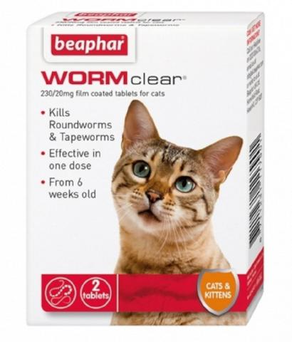 Beaphar WORMclear Worming Tablets For Cats-Package Pets