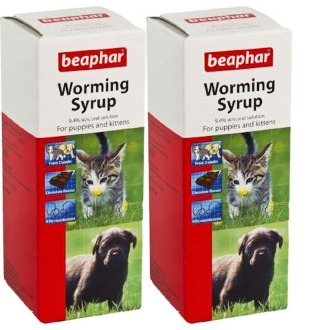 Beaphar Worming Syrup for Puppies & Kittens - 2 Pack-Package Pets