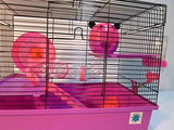 Dexter 2 Tier Large Hamster Cage - Pink & Purple-Package Pets