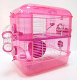 Fantazia 2 Tier Large Glitter Hamster Cage - Pink & Purple-Package Pets