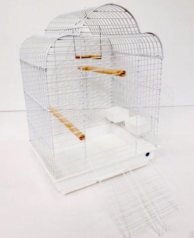 Gabby Large Bird Cage For Cockatiels - White-Package Pets