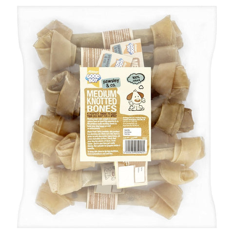 Good Boy Rawhide Knotted Bone - 10 Pack-Package Pets